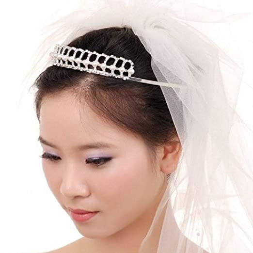Shop Ginger Wedding White Pearl Headband Bridal Tiara Crystal Crown ... 9678524f4d8