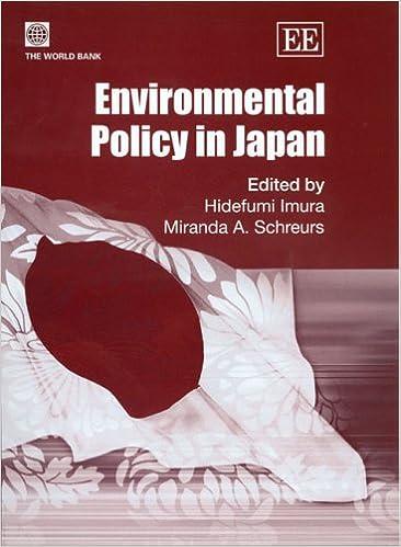 Environmental Policy In Japan Hidefumi Imura Miranda A Schreurs 9781845423704 Books