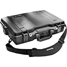 Pelican 1495 Black Computer Case with Foam (Black)