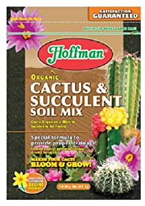 Hoffman 10410 Organic Cactus and Succulent Soil Mix, 10 Quarts