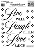 RoomMates Live Well, Love Often, Love Much, Peel and Stick Wall Decal Quote