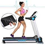 Garain S6400 Folding Electric Treadmill, Bluetooth App Control Touch Screen Exercise Equipment Walking Running Machine Home Fitness Treadmills (US STOCK)