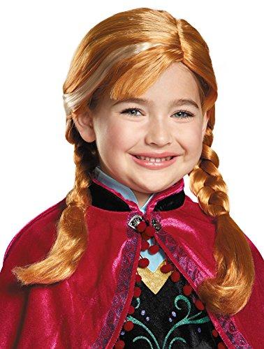 UHC Disney Princess Frozen Anna Child Wig w/ Braid Halloween Costume Accessory (Frozen Costumes For Sale)