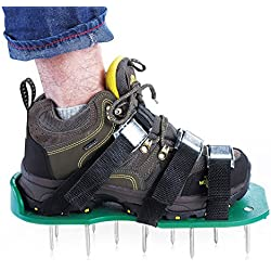 Lawn Aerator Shoes, Updated Version Lawn Aerator Sandals, Heavy Duty Spike Shoes for Grass - Free Size, Best Garden Tools for Lawn Care by Ansbro