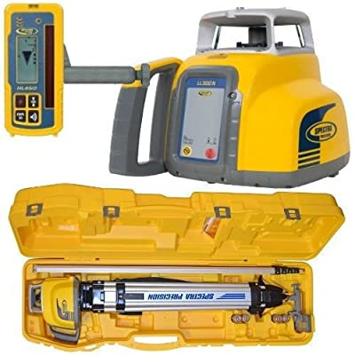 Spectra Precision LL300S-1 LL300S Laser Level Package with Alkaline Batteries and GR151 Rod (Tenths)