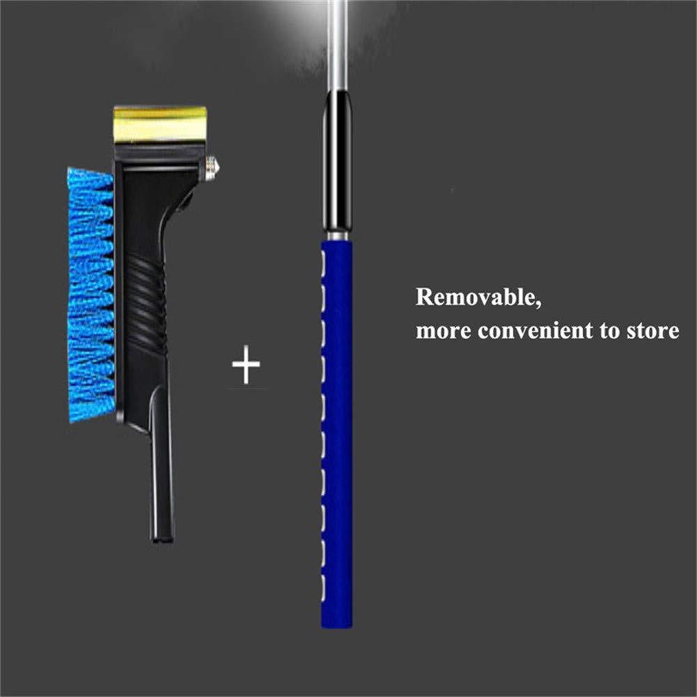 Zhengpin Windshield Ice Scrapers,Snow Removal Shovel,Snow Brush and Ice Scraper Extendable for Car,Aluminum Alloy Ice Shovel Telescopic Defrost Tool for Snow Scraping,Snow Sweeping,Ice Shoveling by Zhengpin