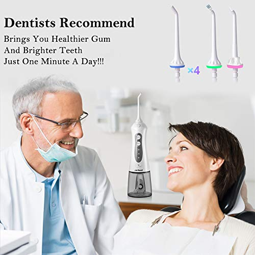Cordless Water Flosser Teeth Cleaner NEWEST 2020 High Plus Rechargable Portable Oral Irrigator For
