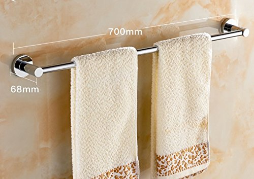 LVLIDAN Contemporary Towel bar Washroom rails Copper Single layer wall mounted 70cm by LVLIDAN Towel Rail