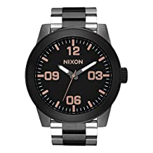 Nixon CORPORAL SS Black / Rose Gold Watch