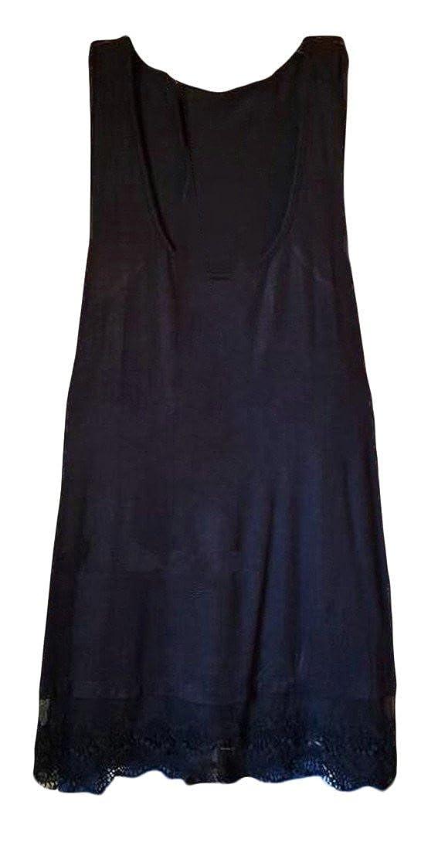 Pandapang Womens Lace Swing Ethnic Style Pleated Sleeveless Crewneck Classic Dresses