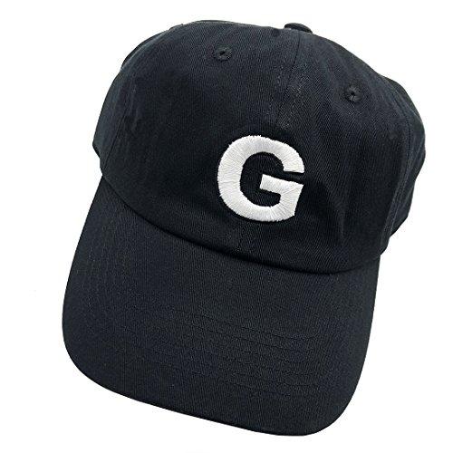 1724d1303463e Golf Dad hat Baseball Cap Letter G Embroidered Adjustable Snapback Unisex  Black