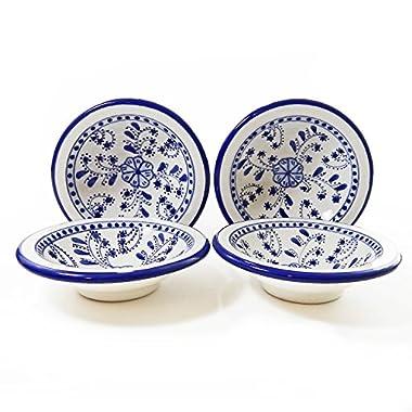 Le Souk Ceramique Round Sauce Dishes, Set of 4, Azoura Design