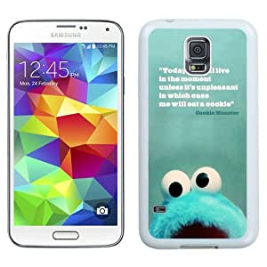 Great Quality Samsung Galaxy S5 I9600 Case ,Beautiful And Unique Designed Case With Cookie Monster Quotes 01 White Samsung Galaxy S5 Cover Phone Case