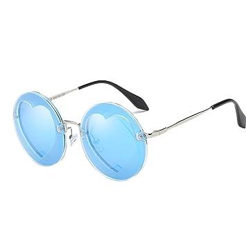 Providethebest Niños Niñas Niños Gafas de Sol polarizadas UV400 protección Integral en Forma de corazón de