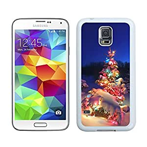 S5 Case,Christmas Tree With Colorful Light Samsung Galaxy S5 Phone Case,S5 I9600 TPU Cover Case