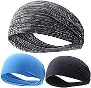 Linwnil Sweatband Sports Headband Men & Women Moisture Wicking Athletic Cotton Terry Cloth Sweatband Tenni