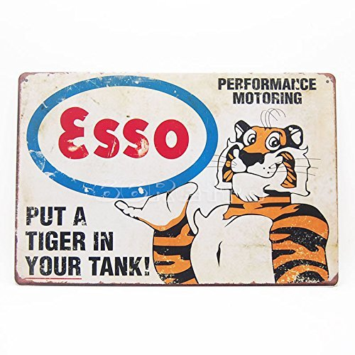 Esso Oil - Esso Put a Tiger in Your Tank, Metal Tin Sign, Wall Decorative Sign By 66retro