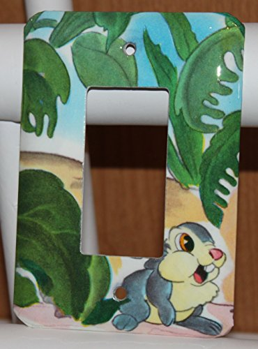 Disney Bambi Thumper Bunny Rabbit Vintage Switch Plate Wallplate Light Cover Decora