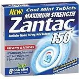 Zantac 150mg Maximum Strength Cool Mint Acid Reducer - 8 ct
