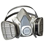 3M Half Facepiece Disposable Respirator Assembly 5201, Organic Vapor Respiratory Protection, Medium(Pack of 1)