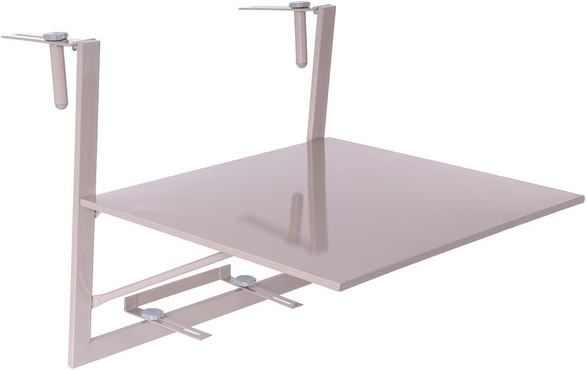 Mesa plegable y colgante para el balcón - Superficie ajustable ...