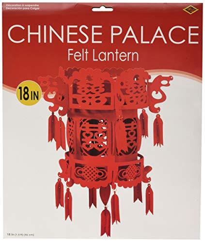 Beistle 59995 Felt Chinese Palace Lantern, 18