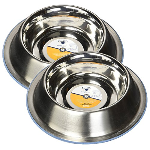 OurPets DuraPet Premium No-Tip Stainless Steel Pet Bowls, Small (2 Pack) by Our Pets