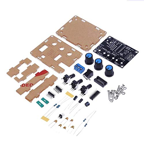 zuizay - XR2206 Function Signal Generator DIY Kit Sine Triangle Square Wave 1HZ-1MHZ Adjustable Frequency Amplitude