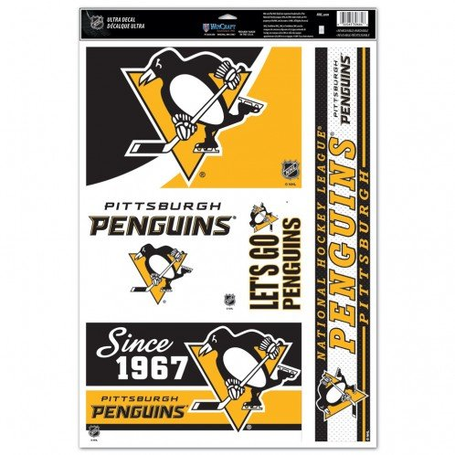 WinCraft NHL Pittsburgh Penguins 09521013 Multi Use Decal, 11 x 17, Black