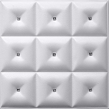 leather wall panels contemporary 3d faux leather wall panel lt19 white diamond the set of glue amazoncom