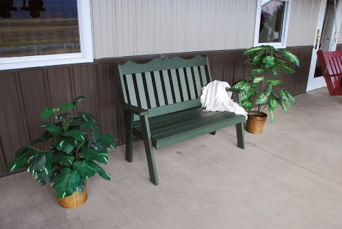 Classic Outdoor 6 Foot Royal English Garden Bench - Painted- Amish Made USA -Black