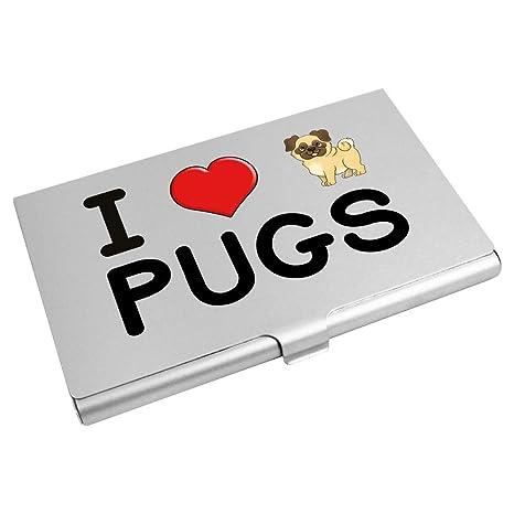 Azeeda I Love Pugs Tarjeta de Visita Titular / Tarjeta de ...
