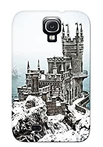 Christmas Day's Gift- New Arrival Cover Case With Nice Design For Galaxy S4- Swallow Nest Castle