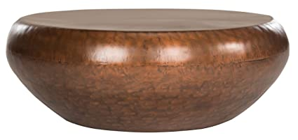 Amazon Com Safavieh Home Collection Patience Copper Coffee Table