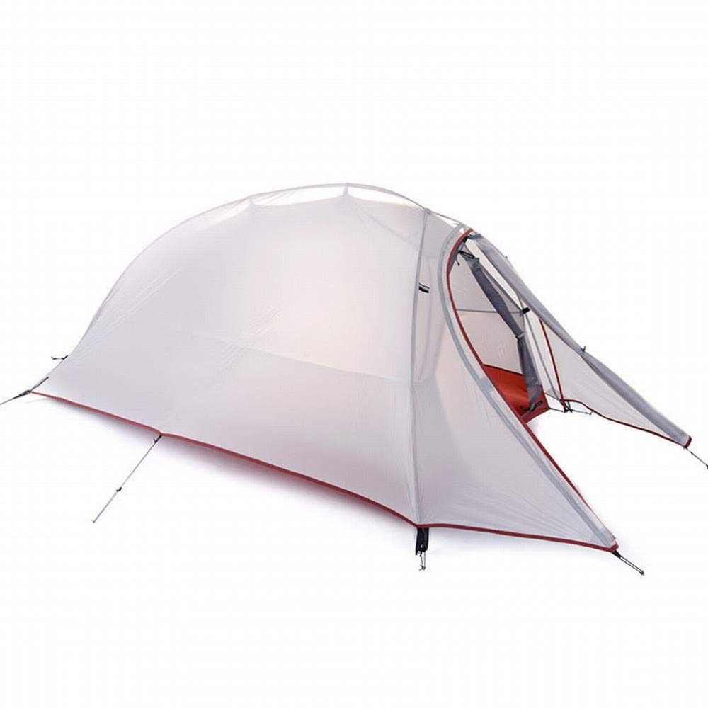 CN Ultraleichtes einzelnes Zelt Doppeltes regendichtes im Freien kampierendes Bergsteigen im Freien, Das Fahrradzelt Vier Jahreszeiten radfährt,Hellgrau,1