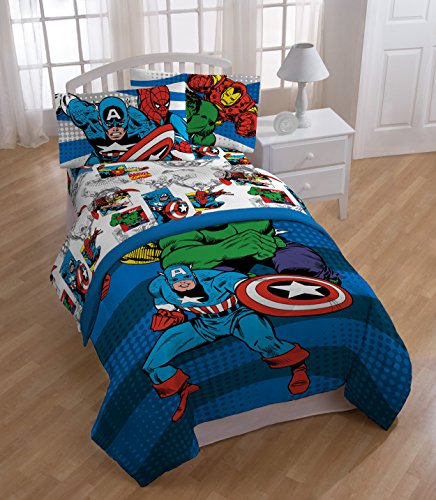 Marvel Comics Good Guys Reversible Comforter, Twin/Full