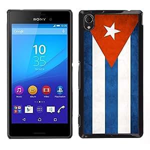 LECELL--Funda protectora / Cubierta / Piel For Sony Xperia M4 Aqua -- Nacional bandera de la nación País Cuba --