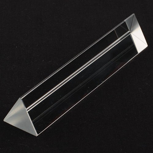 Amlong Crystal 4 Inch Optical Glass Equilateral Prism For
