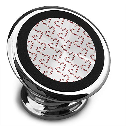 Magnetic Car Phone Candy Cane Pattern Mobile Bracket 360 Degree Rotation from Dashboard