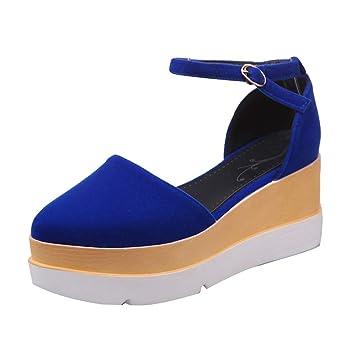 LuckyGirls Zapatos Informales para Mujer Casual Calzado Zapatillas de Suela Gruesa 6.5cm: Amazon.es: Deportes y aire libre