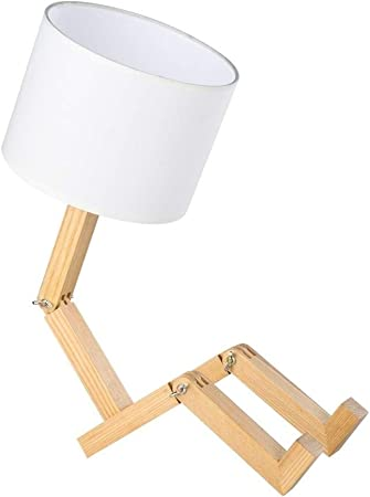 Yooee Lámparas de Mesa Madera Creativa en Forma de luz de Lectura ...