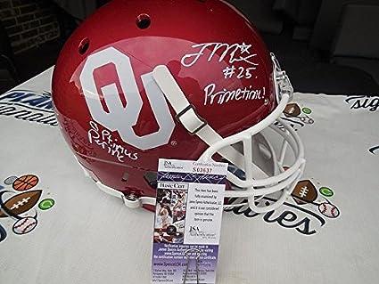 Joe Mixon And Samaje Perine Signed Oklahoma Sooners Ou Full Size Helmet JSA  Coa 14edabd82