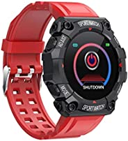 Smartwatch com tela sensível ao toque 1.3, rastreador de atividades IP67 à prova d'água, lembrete de mensa