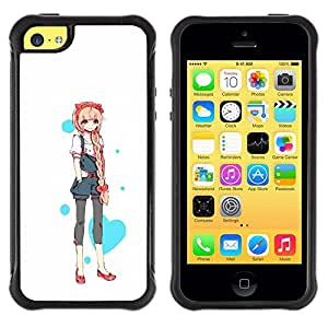 Suave TPU GEL Carcasa Funda Silicona Blando Estuche Caso de protección (para) Apple Iphone 5C / CECELL Phone case / / Love Heart Princess Anime Japanese /