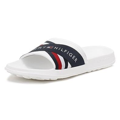 4fb3be633 Tommy Hilfiger Mens White RWB Splash 4D Slides  Amazon.co.uk  Shoes   Bags
