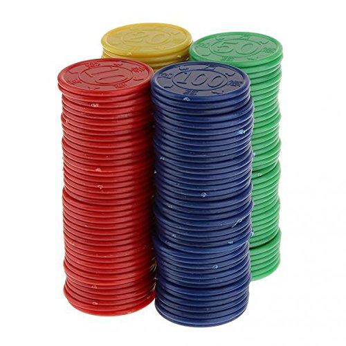 SONONIA  320枚 カウンター ボードゲーム おもちゃ パーティーゲーム 算数玩具 4色