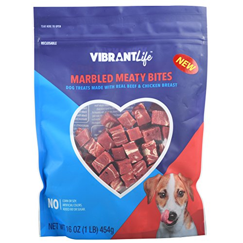 Vibrant Life Marbled Meaty Bites Dog Treats, 16 ()