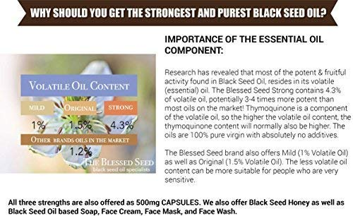 7d9147d7e Amazon.com  The Blessed Seed Strong Black Seed Oil 1000ml (Non-GMO ...