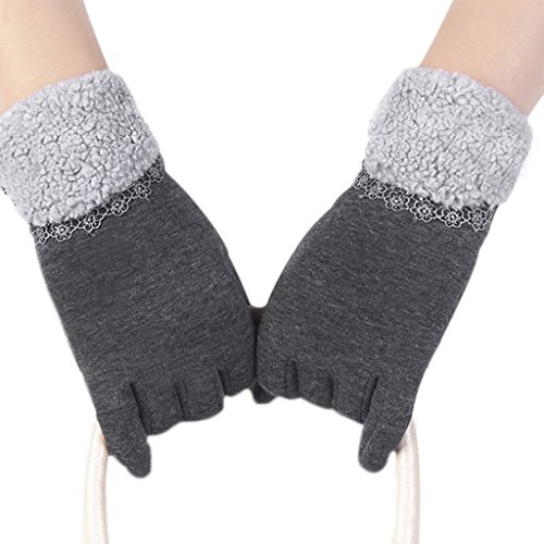 Women's Touch Screen Gloves Outdoor Driving Cycling Motorcycle Gloves Winter Warm Cozy (Glo Fleece Gloves)