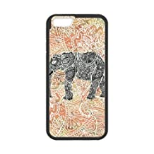 iPhone 6 Plus 5.5 Inch Cell Phone Case Black Tribal Paisley Elephant Colorful Henna Patter KQ3458541